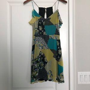 Zara Trafaluc Collection Patchwork Dress